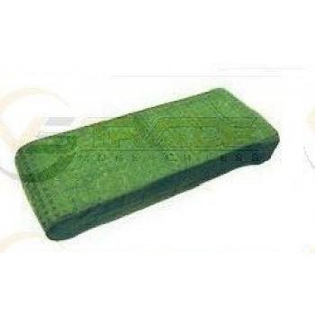 Sacco in tela verde a quadretti filtrante imbottito adatt.scopa elettrica Folletto VK 120 e 122