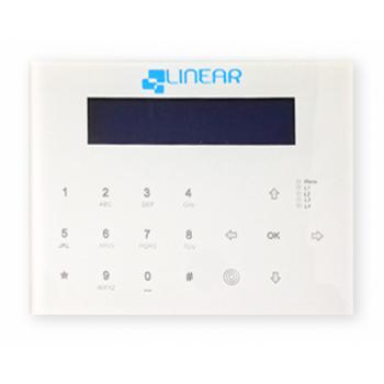 Tastiera LCD capacitiva in vetro display 2x16cm caratteri grandi e sensore TAG integrato