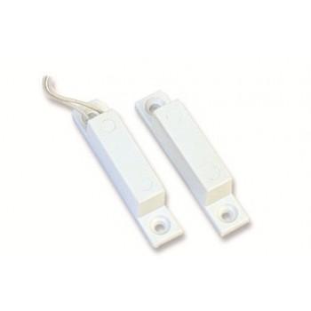 Coppia Contatti Magnetici plastici rettangolari piccoli da esterno con 2 fili - CONTATTO R2N