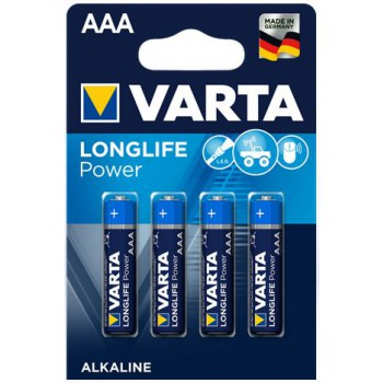 Pila Alkalina Ministilo AAA 1,5V HIGH ENERGY LONGLIFE POWER in blister 4pz - VARTA 04903121414