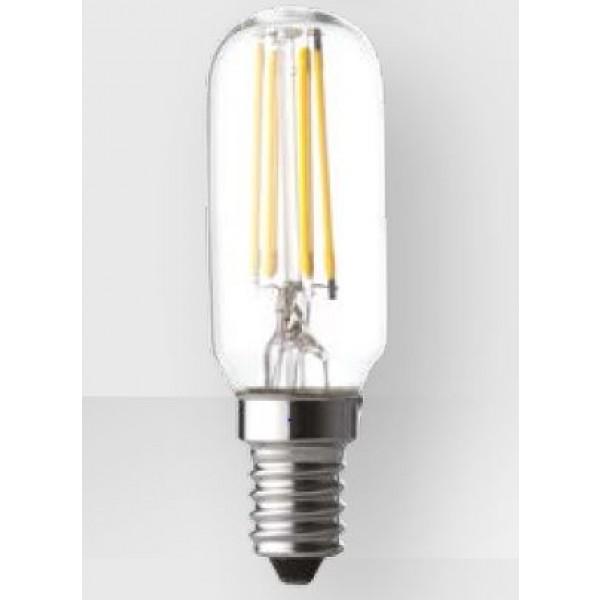 Lampada per cappa wire led tubolare trasparente e14 4w for Lampada tubolare led