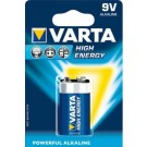 Pila Alcalina 9V HIGH ENERGY in blister 1pz. - VARTA 4922121411
