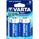 Pila Alkalina torcia 1,5V HIGH ENERGY in blister 2pz - VARTA 4920121412
