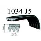 Cinghia lavatrice poly-v EL 1034 J5 - 04AG062