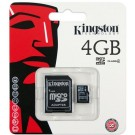 Micro SDHC Card 4Gb classe 4 con adattatore incluso - KINGSTON SDC4/4GB