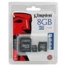Micro SDHC Card 8Gb classe 4 con adattatore - KINGSTON SDC4/8GB