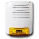 Sirena esterna acciaio/policarb.12Vcc 2A/h (batt.non incl.) 285x238x95mm Grigio Chiarissimo (Verniciabile) - SY 160PL