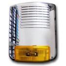 SY 160PL CROME - Sirena acciaio/policarbonato esterna autoalimentata 12Vcc 2A/h (batt.non incl.) 285x238x95mm Cromata