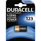Batteria pila CR123A 3V Photo Litium in blister 1pz - Duracell DL123A