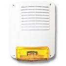 Sirena acciaio/policarbonato esterna autoalimentata 12Vcc 2A/h (batt.non incl.) 285x238x95mm Colore Bianco Lucido (resistente alle intemperie) - SY 160PL