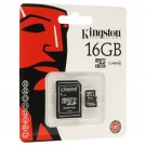 Micro SDHC Card 16Gb classe 4 con adattatore - KINGSTON SDC4/16GB