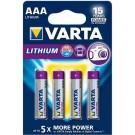 Pile MiniStilo AAA 1,5V PROFESSIONAL LITHIUM in blister 4pz. - VARTA