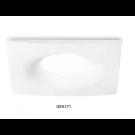 Portafaretto quadrato da incasso IP20 bianco opaco con portalampada GU10 incluso - Gea Led GFA171