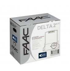 Kit motore cancello scorrevole 500Kg DELTA2 KIT 230V SAFE - FAAC 1056303445